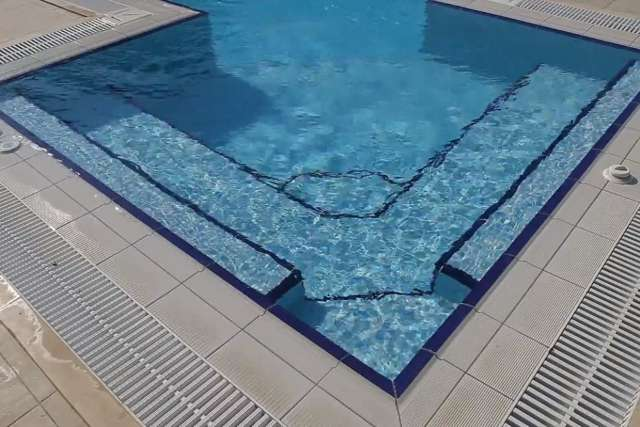 Pekcan pool; swimming pool waterfall and Jacuzzi application